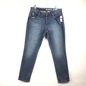 Gap Always Skinny Distressed Mid Rise Jeans 14/32